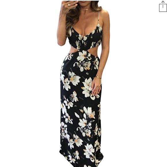 d0e0c42ede Dresses   Sexy Backless Halter Neck Floral Print Maxi Dress   Poshmark